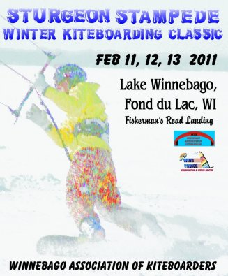 2011 WAK Sturgeon Stampede Kiteboarding Event flyer