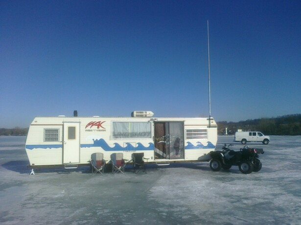 The WAK Shack in place for the weekend Sturgeon Stampede Headquarters