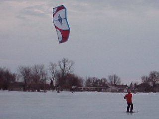 kitesurf lessons winter kiting