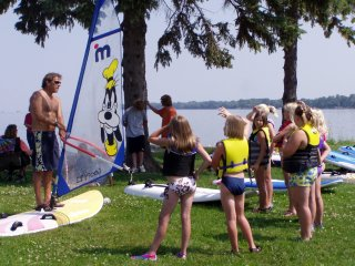 lessons windsurf kids boys girls