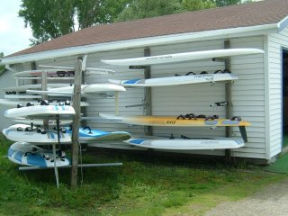wind power outdoor board rack