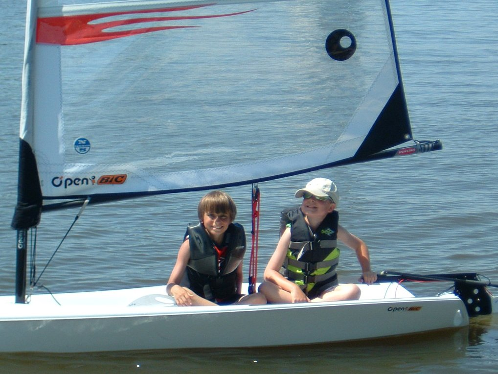 open bic sailboat rentals kids