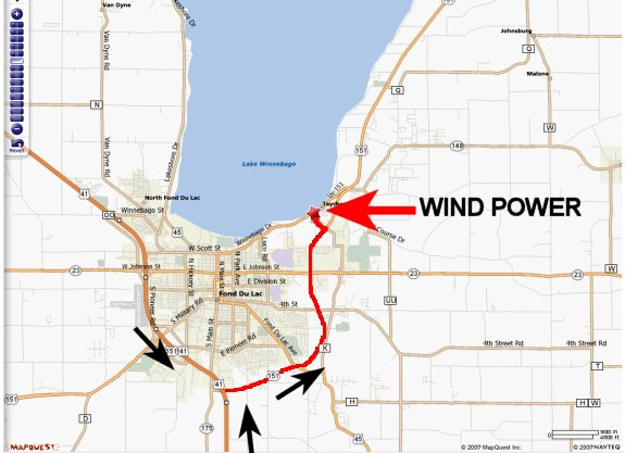 Map to Wind Power Windsurfing & Kiting Center